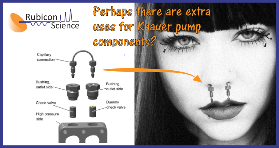 Using an HPLC part for a nose ring