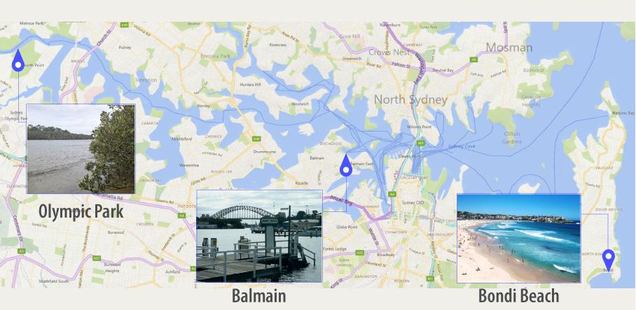 Parramatta River Sampling Points